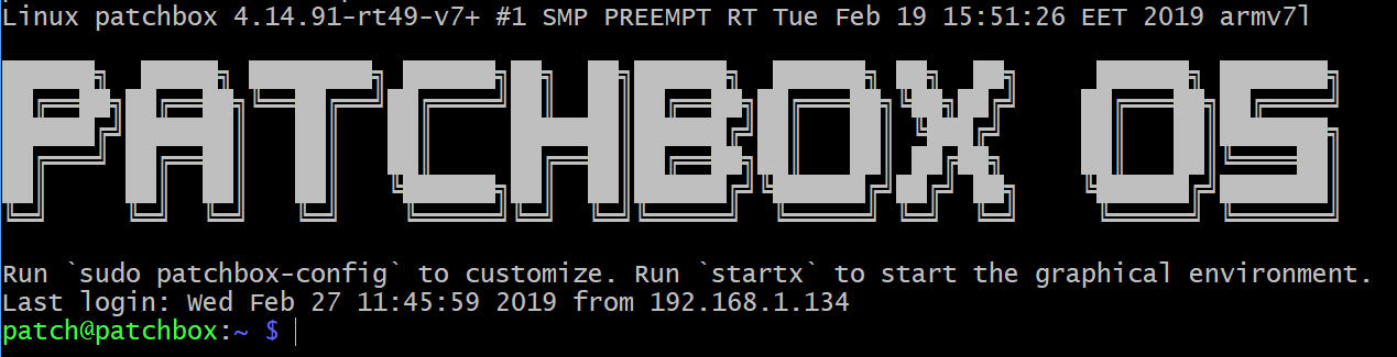 Beta] Patchbox OS image 2019-02-27 (Updated 2019-03-13) - Patchbox